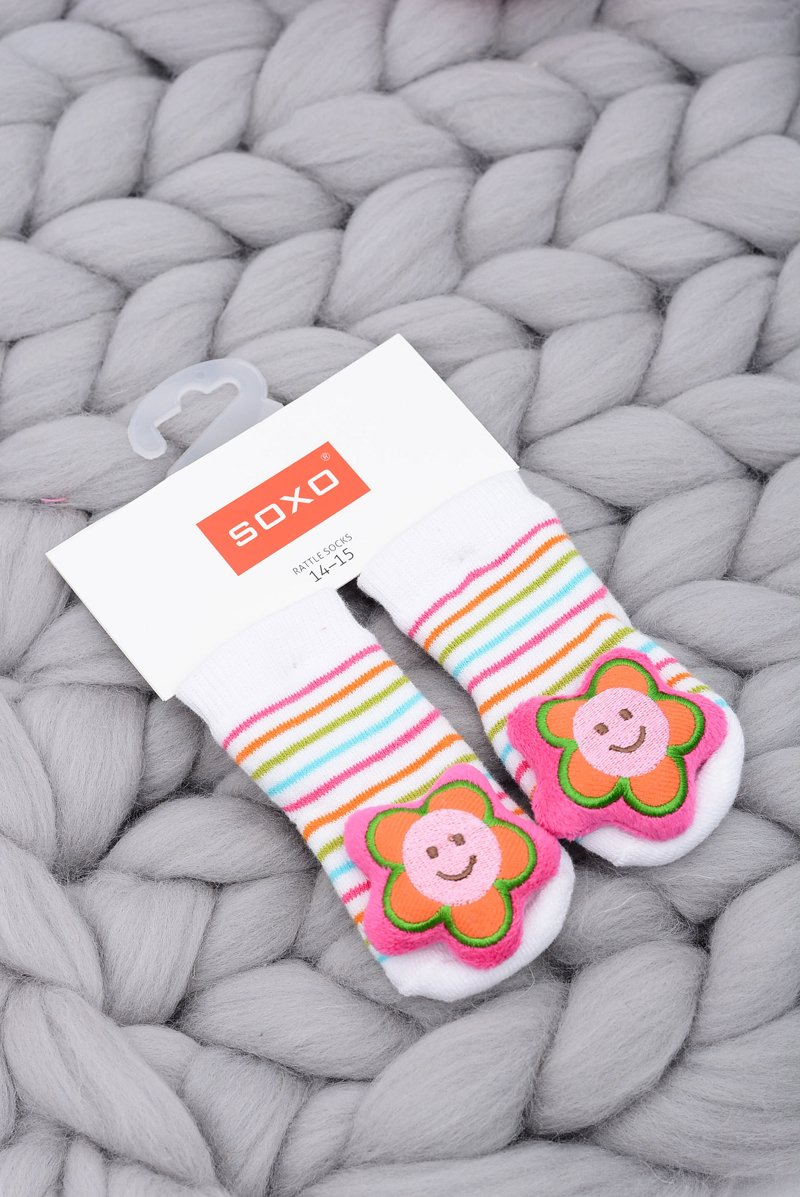 Baby Socks with Rattle Flower Soxo