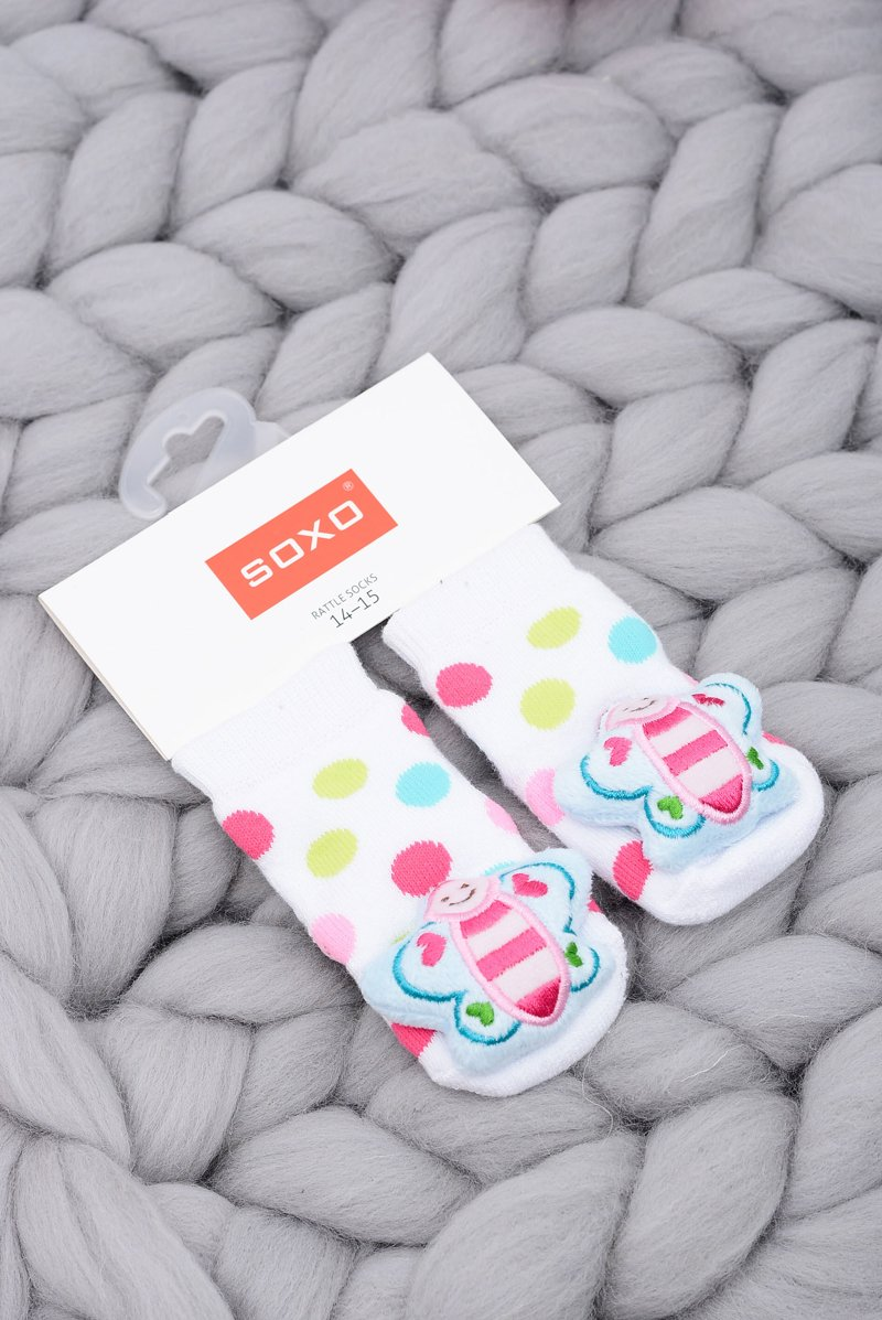 Baby Socks with Rattle Soxo Butterfly