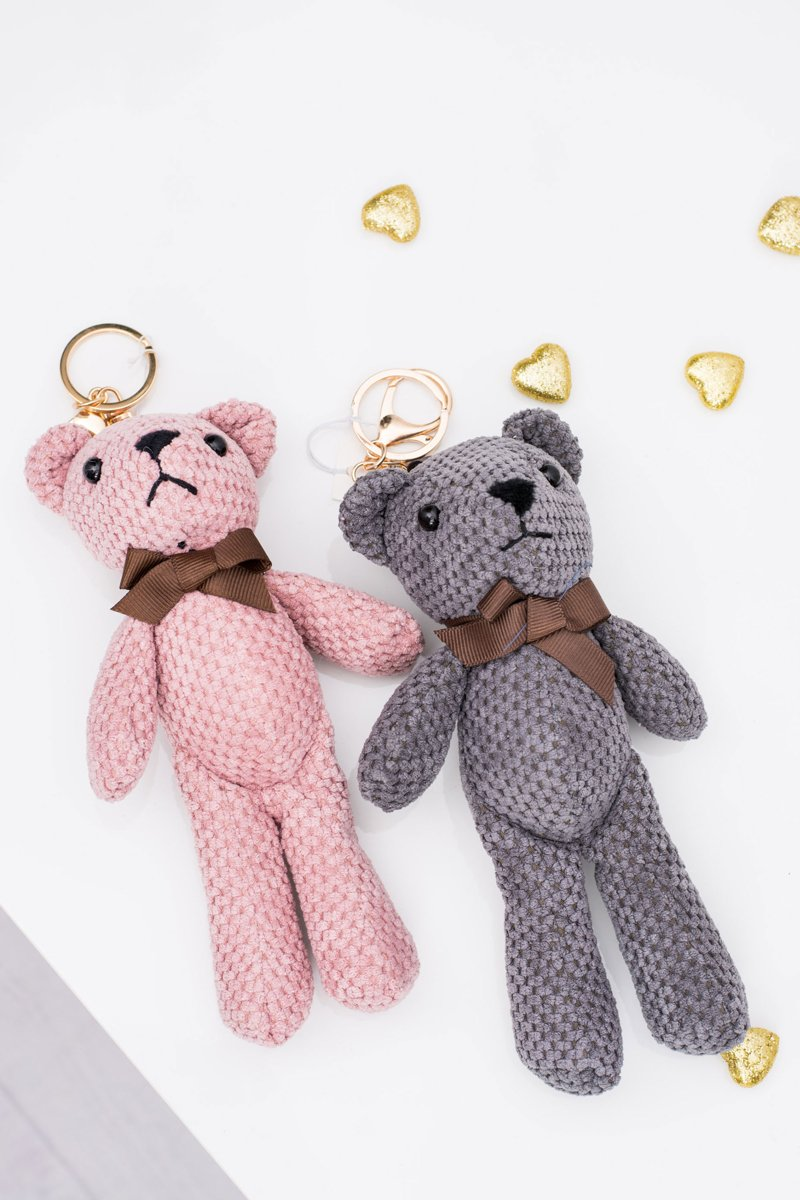 Big Teddy Bear Kamil Pendant Keyring to the Bag