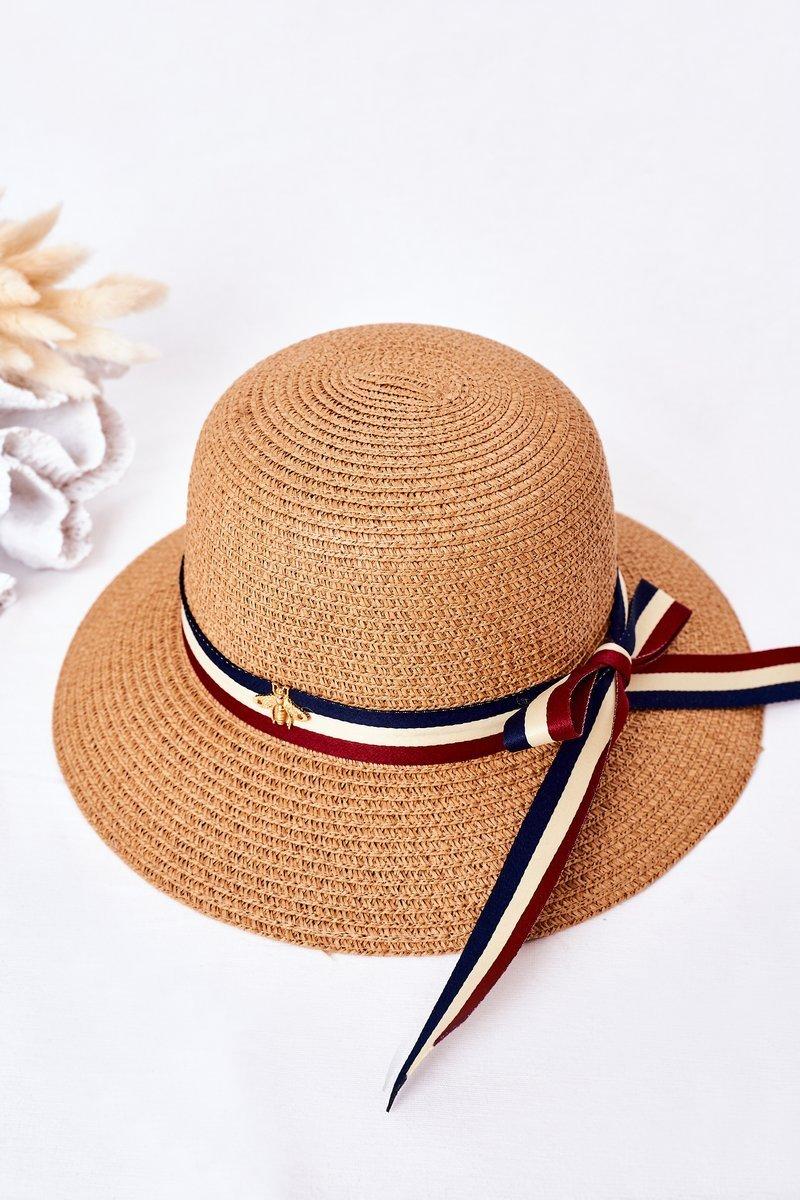Braided Hat BRUNO ROSSI Camel