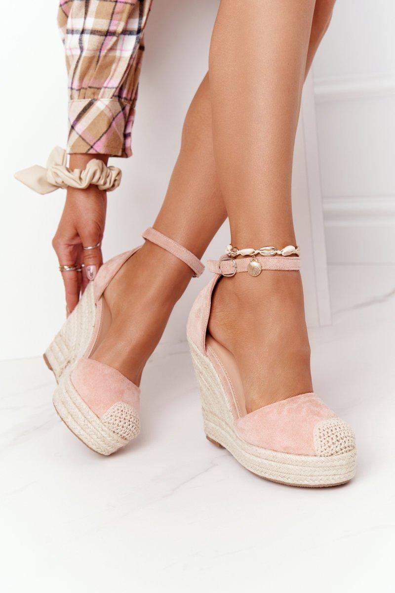 Braided Wedge Sandals Light Pink Avocado
