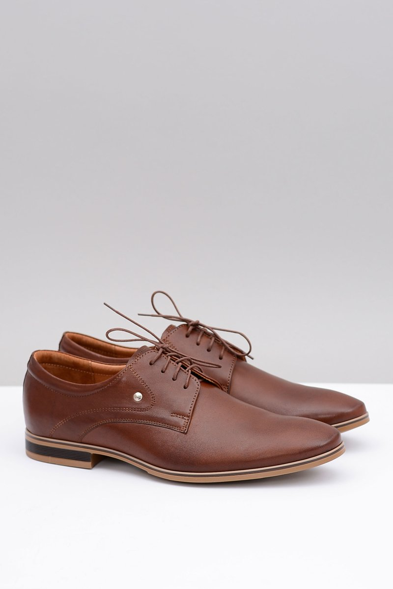 Brown Elegant Leather Shoes Refugio