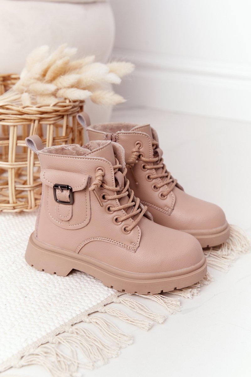 Children's Boots With Pocket Beige TikTok