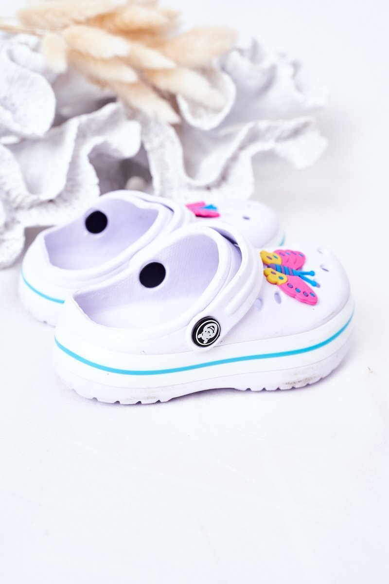 Children's Foam Slippers Crocs White Lazy Day