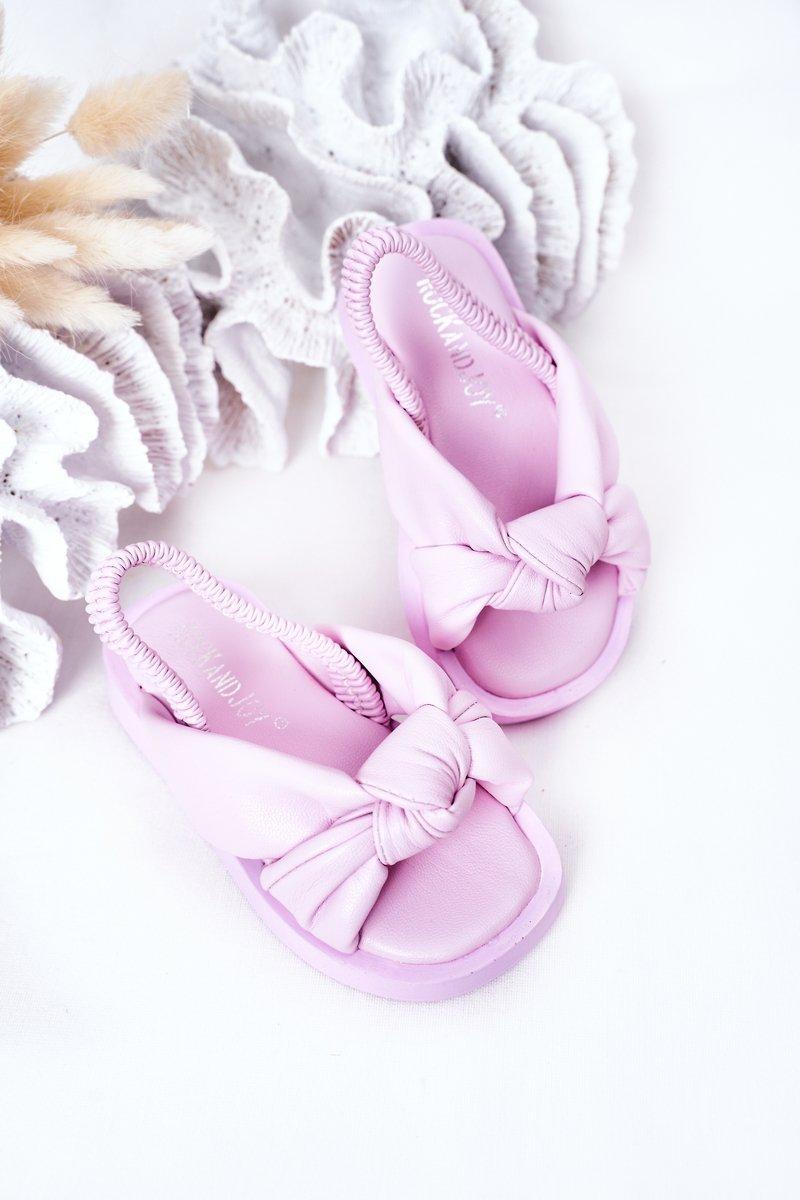 Children's Sandals With Drawstring Purple Bubble Gum