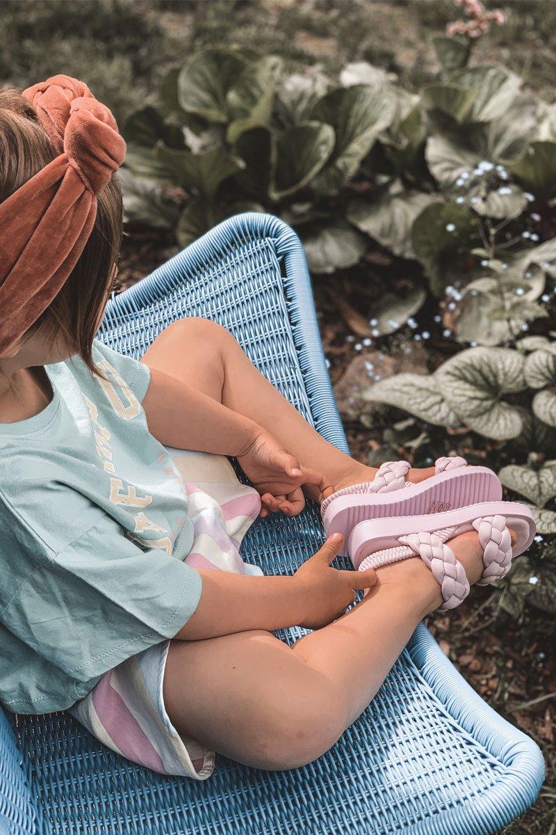 Children's Sandals With Drawstring Purple Cutie-Pie