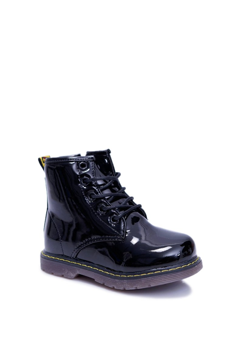 Children's Shoes Girl's Boy's Warm Boots Lacquered Black Ferrero