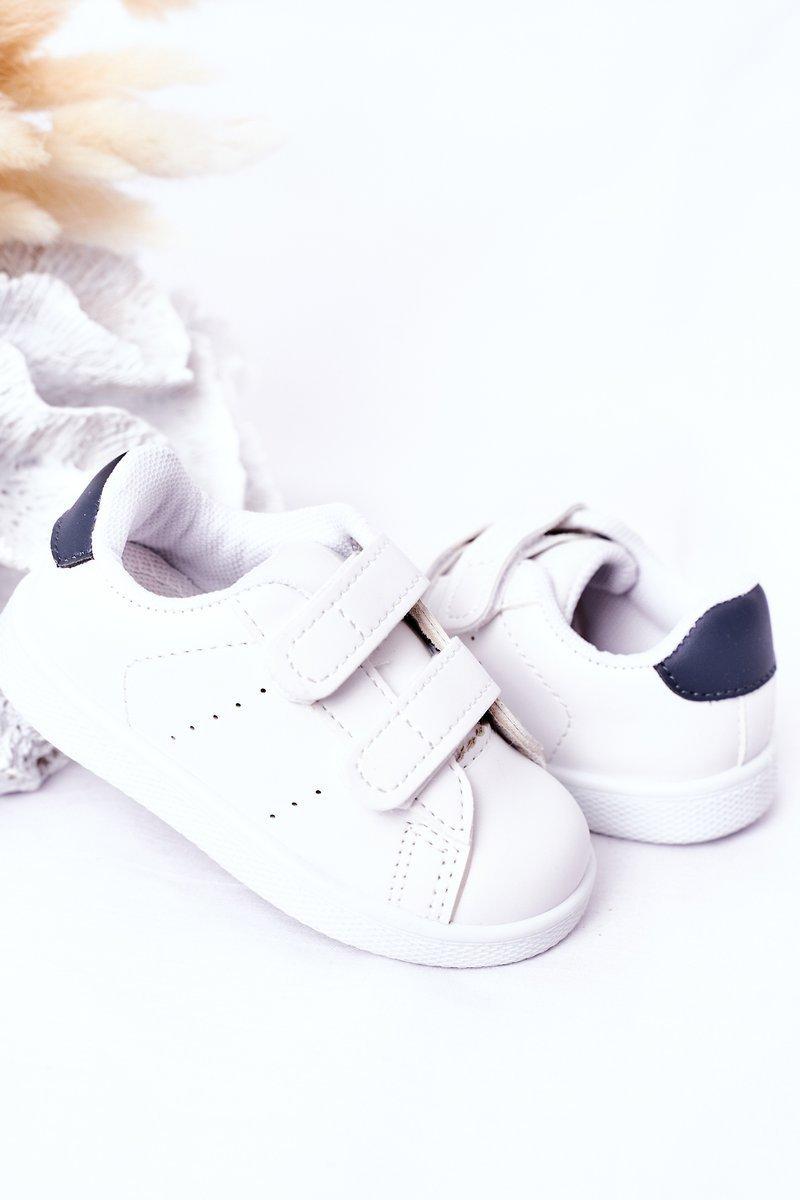 Children's Sneakers With Velcro White-Navy California