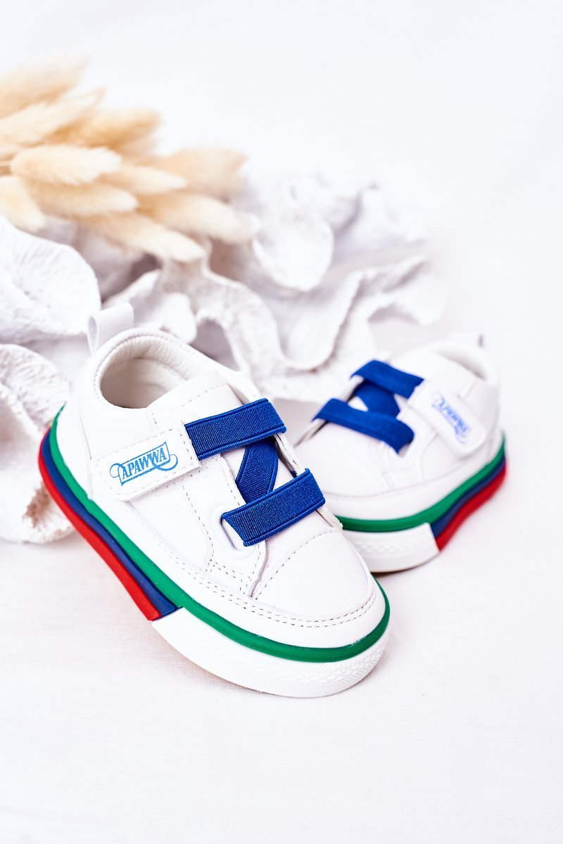 Children's Sneakers With Welt White Navy Blue Baxter