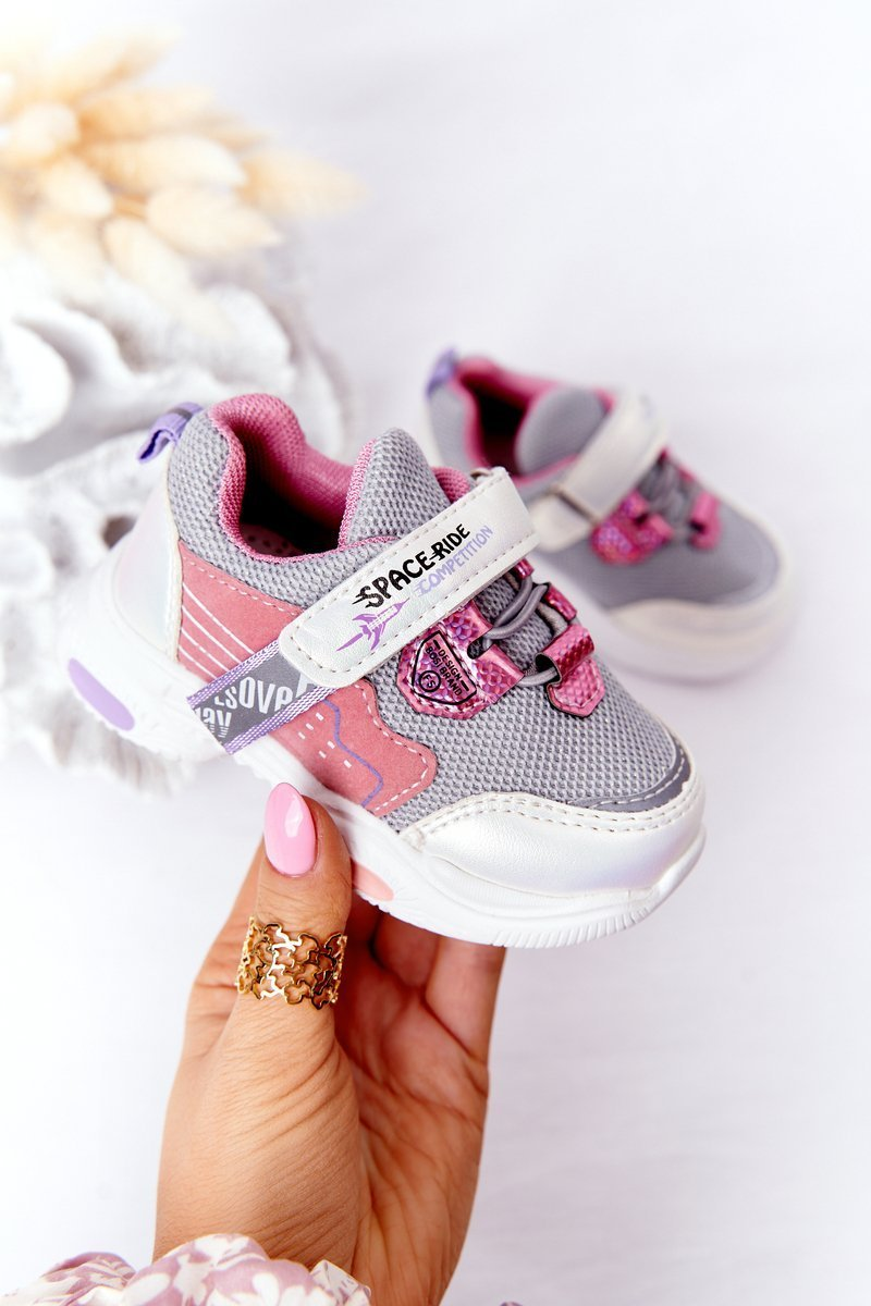 Children's Sport Shoes Sneakers White-Pink Space Ride