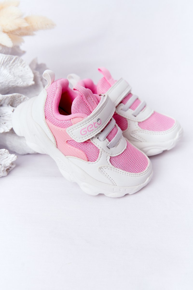 Children's Sport Shoes Sneakers White-Pink Sugar