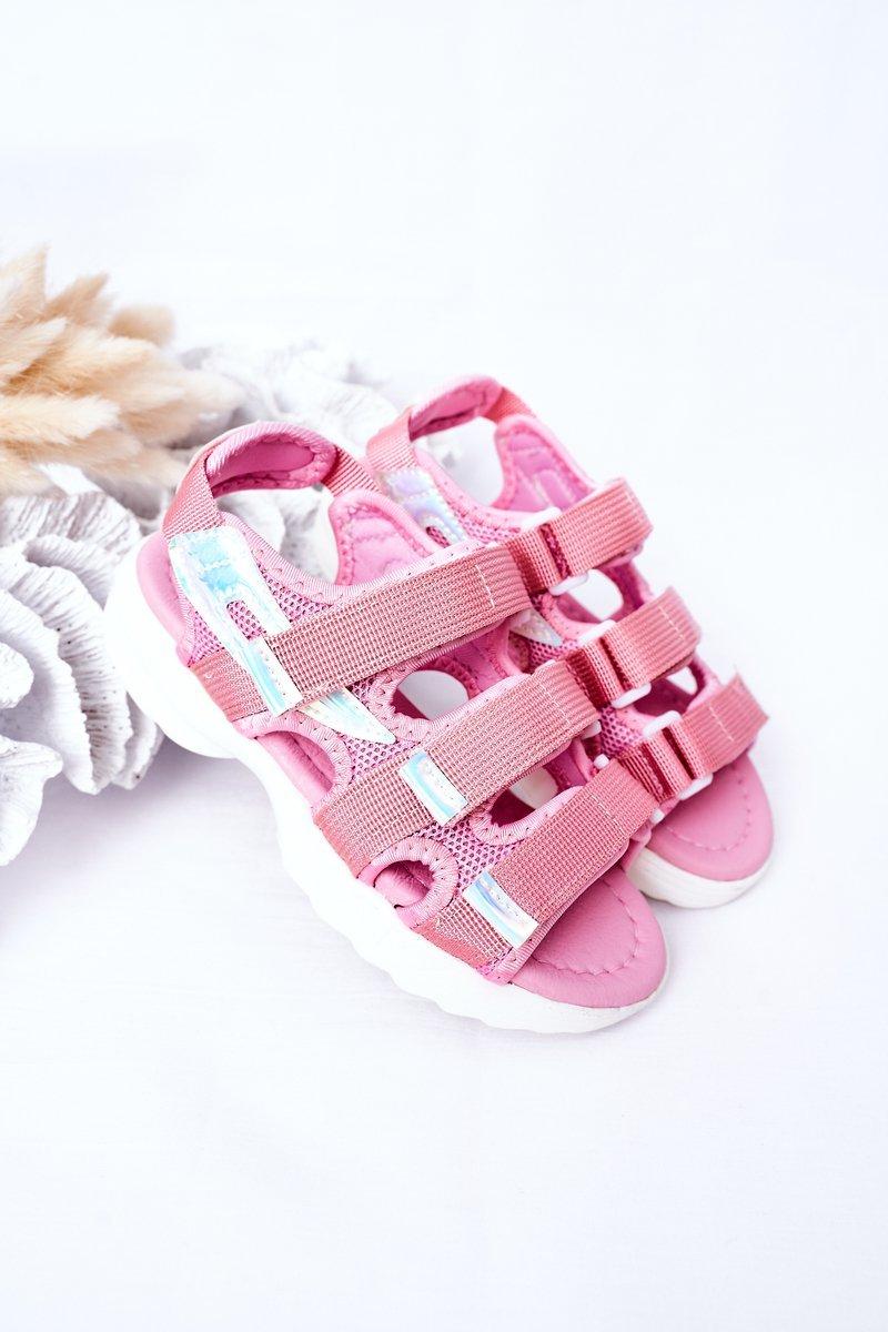 Children's Sport Velcro Sandals Pink Flyn