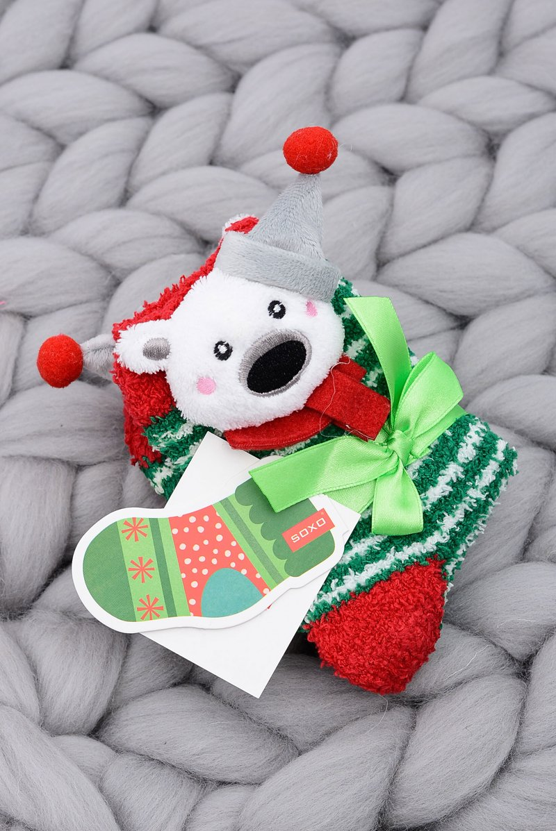 Christmas Socks for Children Soxo Teddy Bear