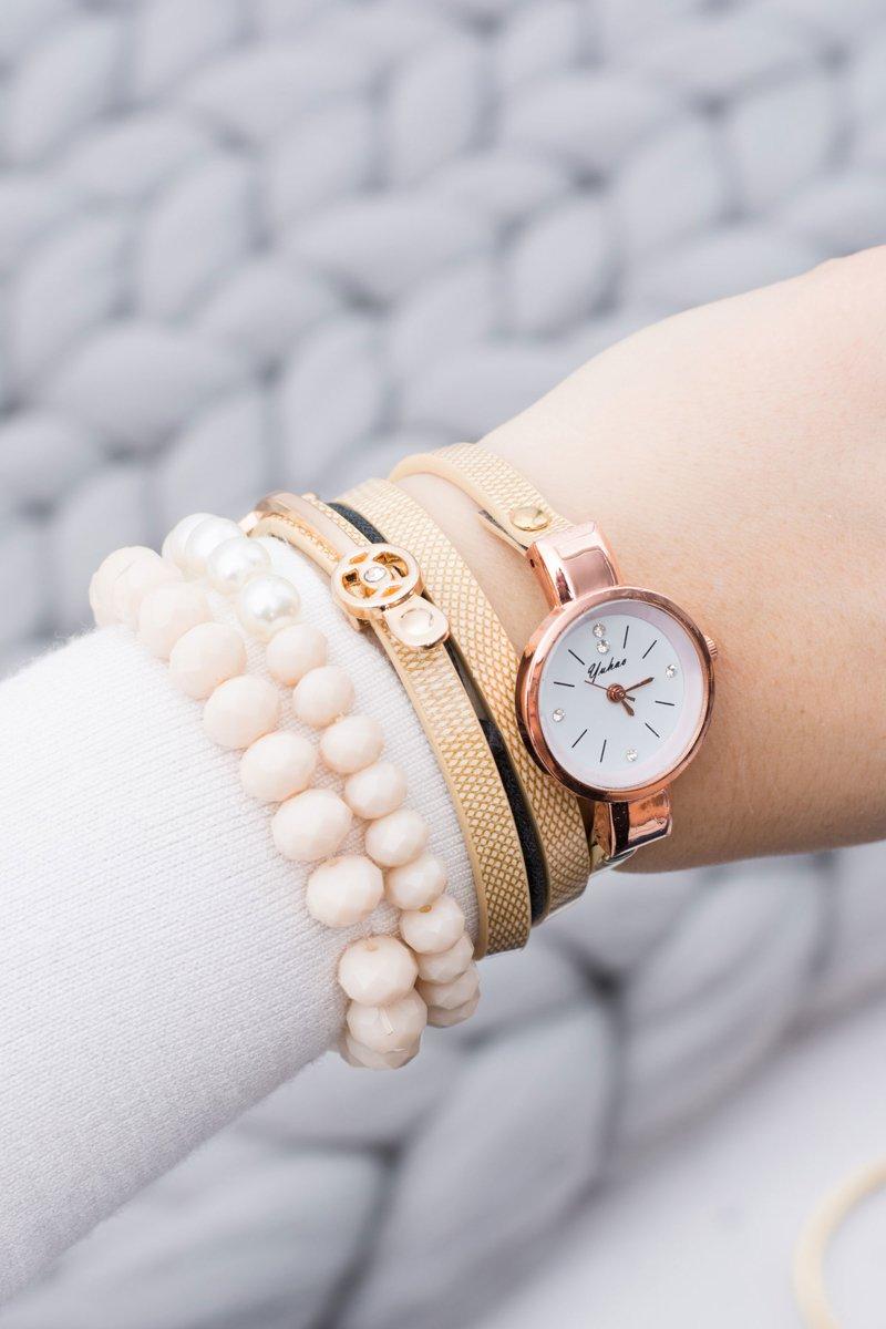 Copper Watch Ladies Double Strap