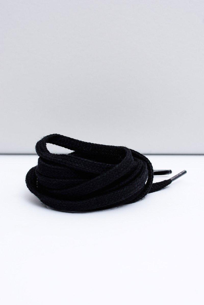 Corbby Black Flat Shoelaces