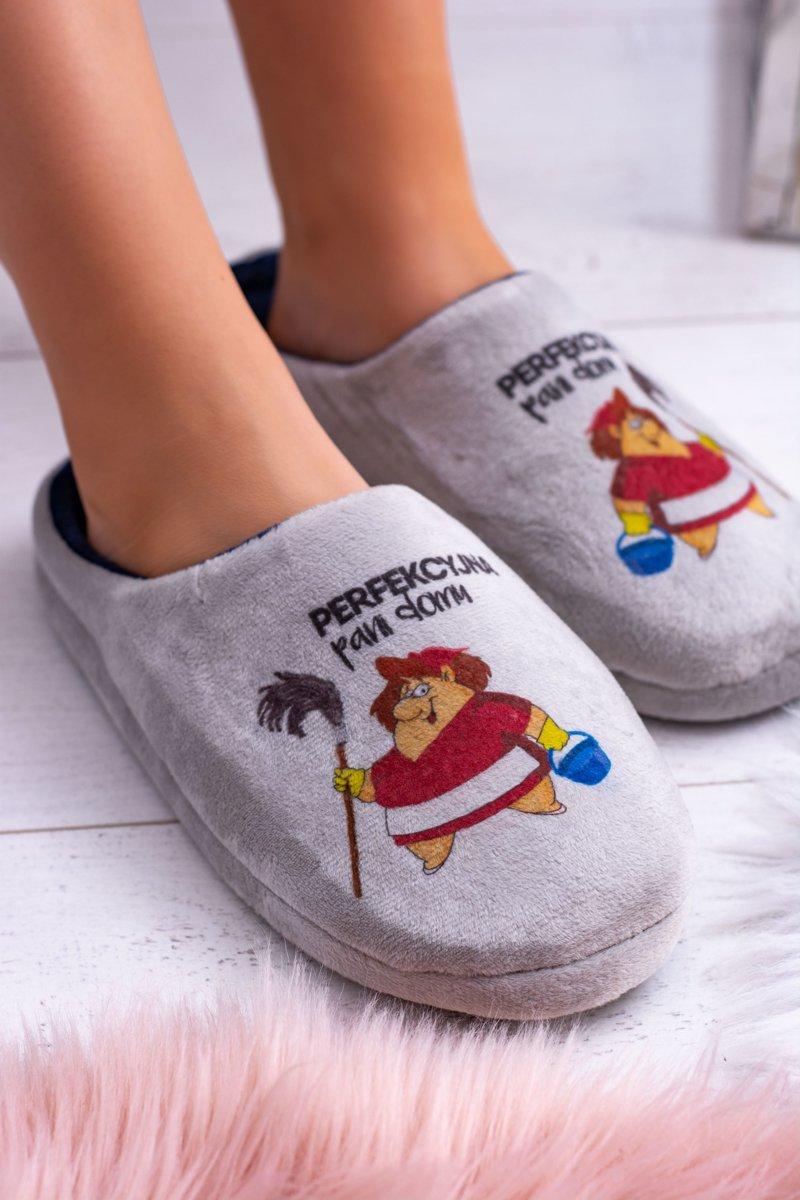 Dreex Women's Plush Slippers Perfekcyjna Pani Domu