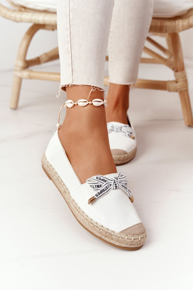 Espadrilles On A Straw Sole S.Barski White