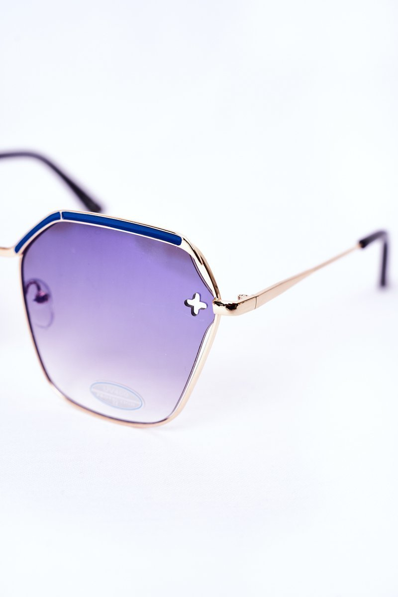 Geometric Sunglasses Navy Ombre