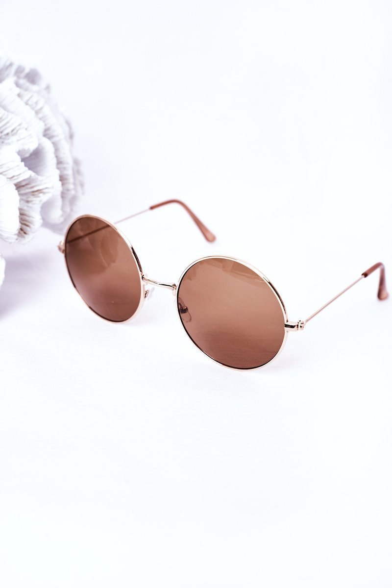 Gold Lennon Sunglasses With Brown Lenses
