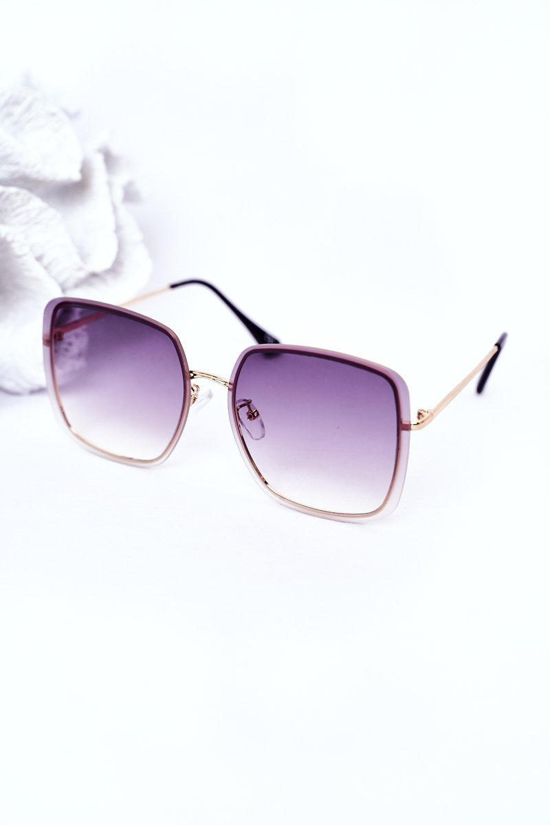 Gold Square Sunglasses Graphite Ombre
