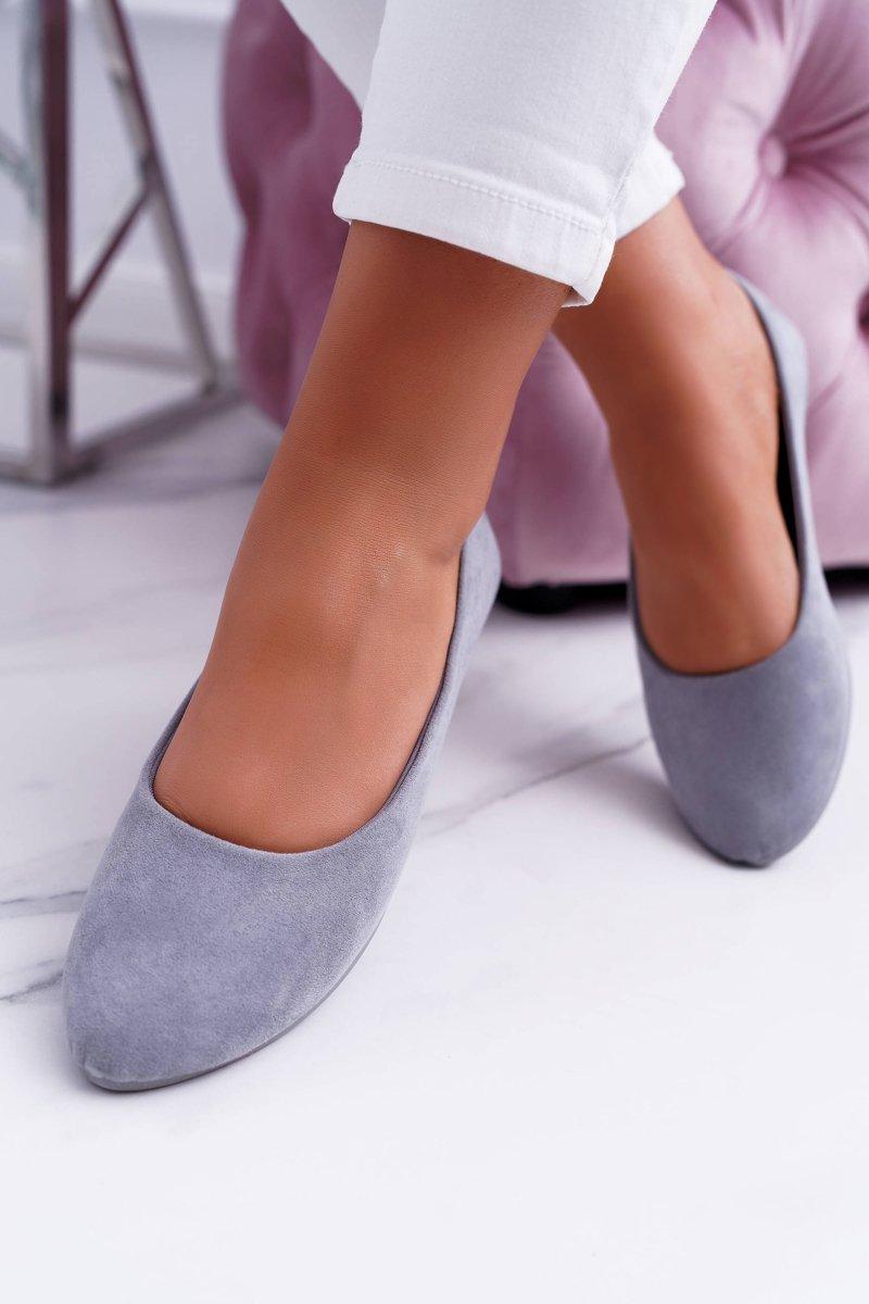 Grey Women's Suede Ballet Buenos