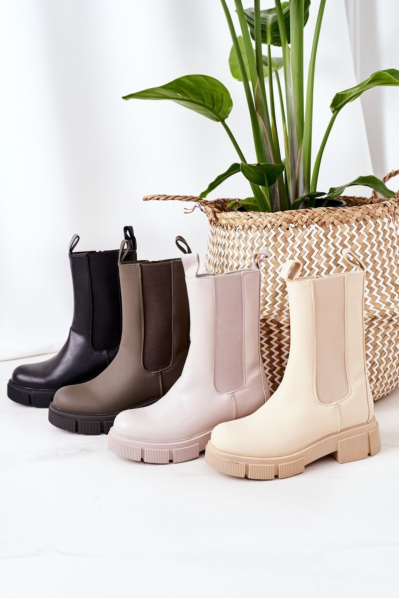 Insulated Chelsea Boots Army Green Must Have