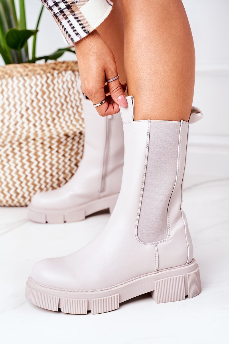 Insulated Chelsea Boots Grey Must Have
