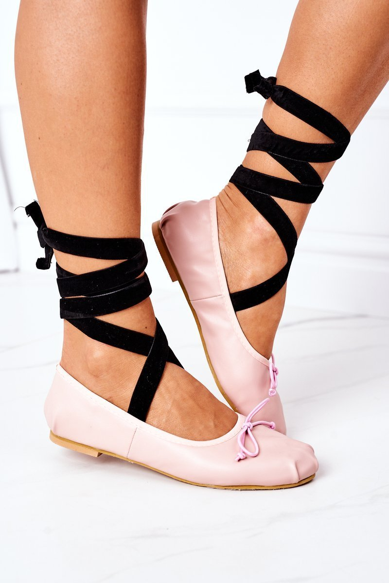 Lace-up Ballerinas Lu Boo Pink