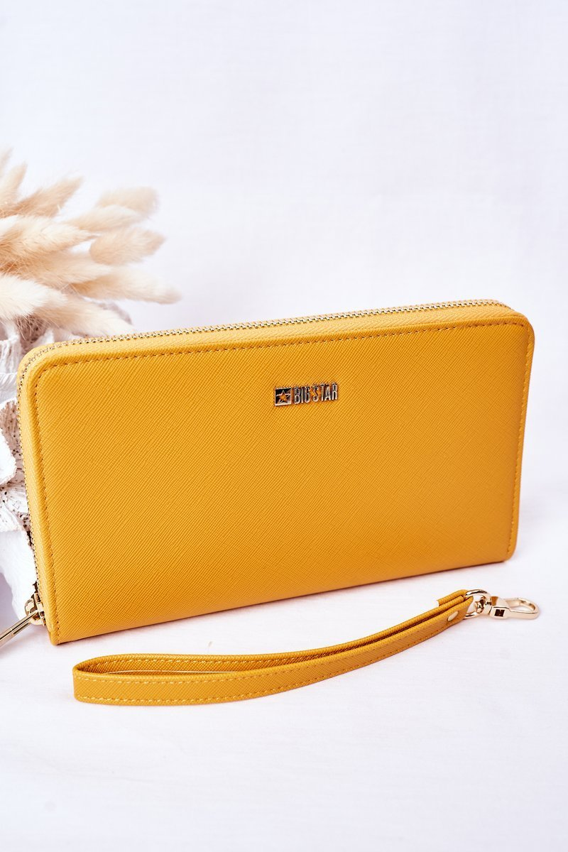 Large Leather Wallet Big Star HH674001 Yellow