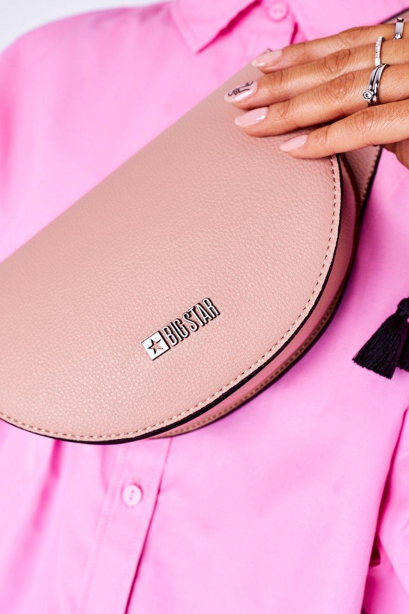 Leather Kidney Bag Big Star HH574078 Pink