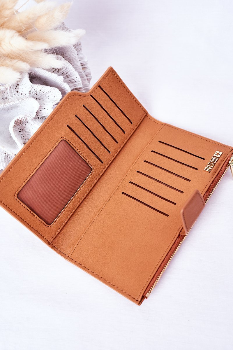Leather Wallet Big Star HH674010 Camel