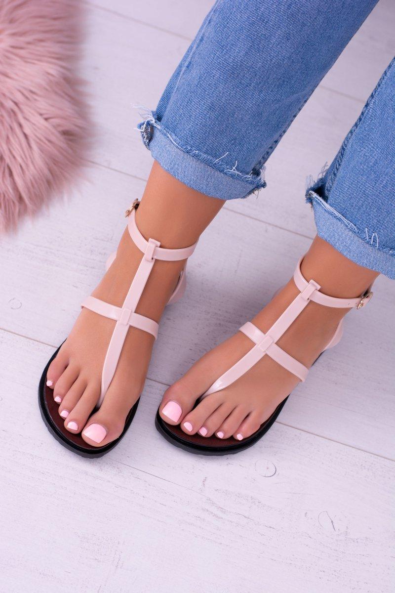 Lu Boo Beige Sandals Roman Flip-flops Lento