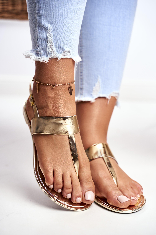 Lu Boo | Golden Mirror Sandals II-cat Nora
