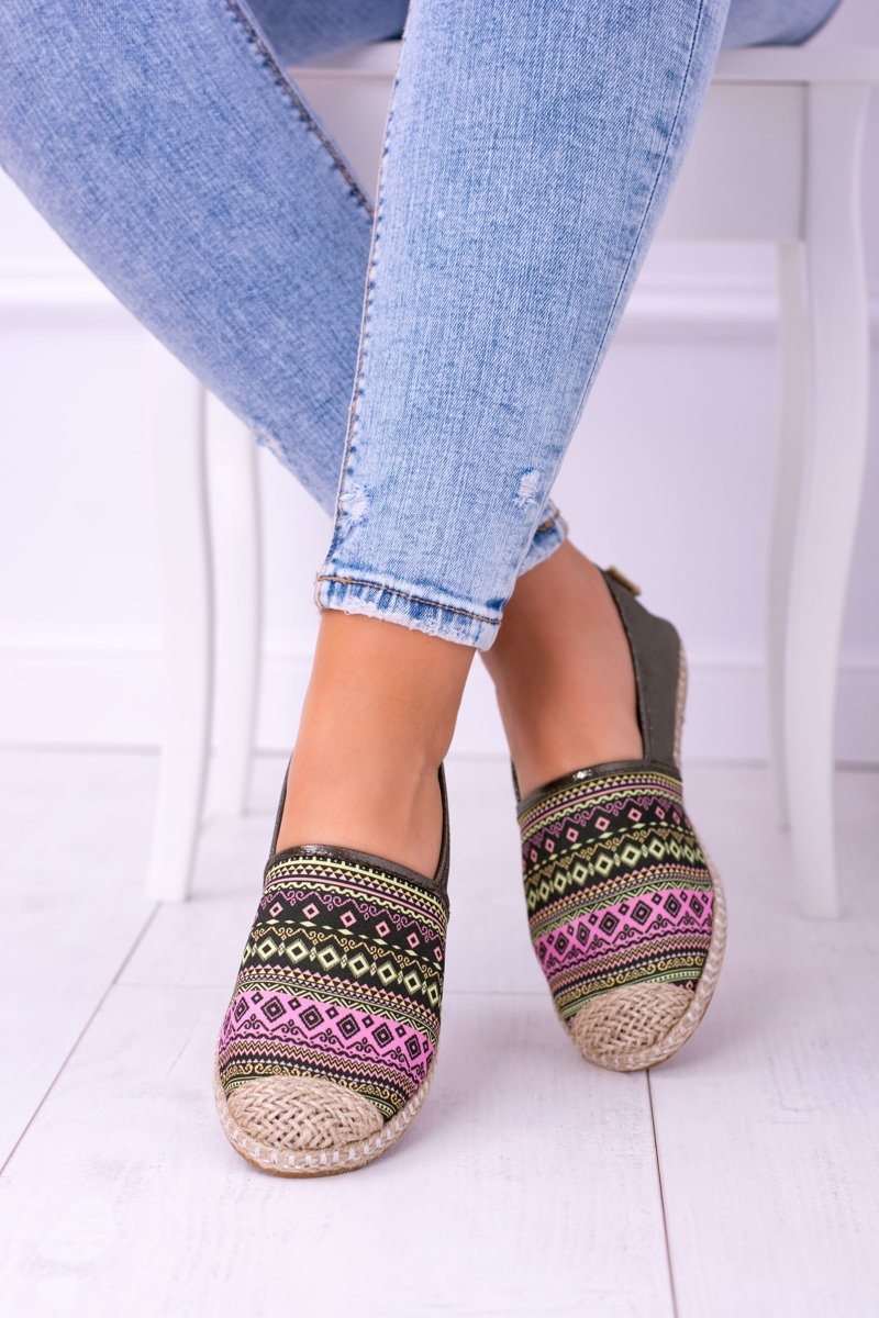 Lu Boo Green Women  Summer Espadrilles Aztec Monett