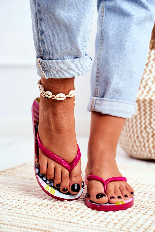 Lu Boo Pink Aztec flip-flops Havanna
