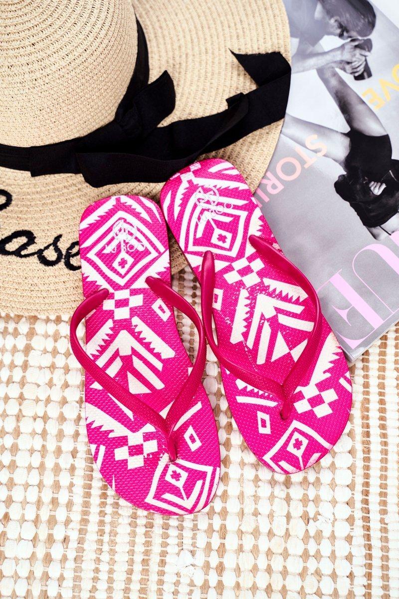 Lu Boo | Pink Women's Flip Aztec Flip-flops Havanna