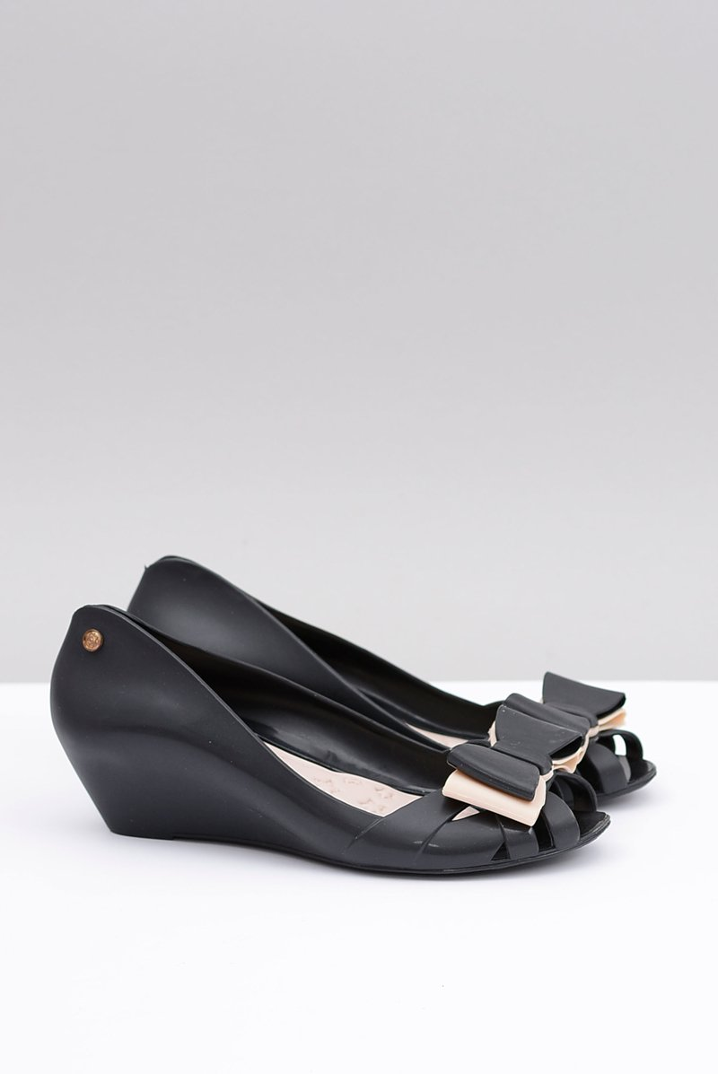 Lu Boo Rubber Ballerinas On Wedges Lea