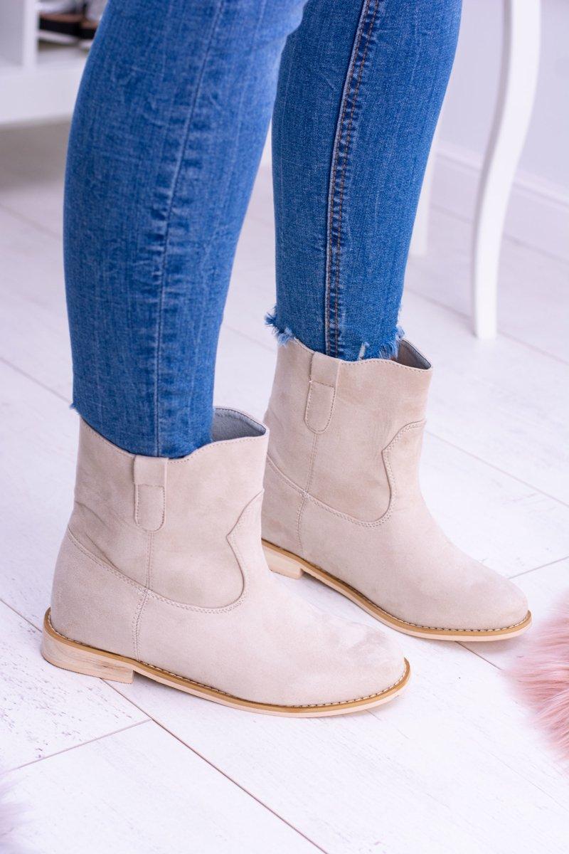 Lu Boo Slip-on Women's Ankle Boots Beige Trinity