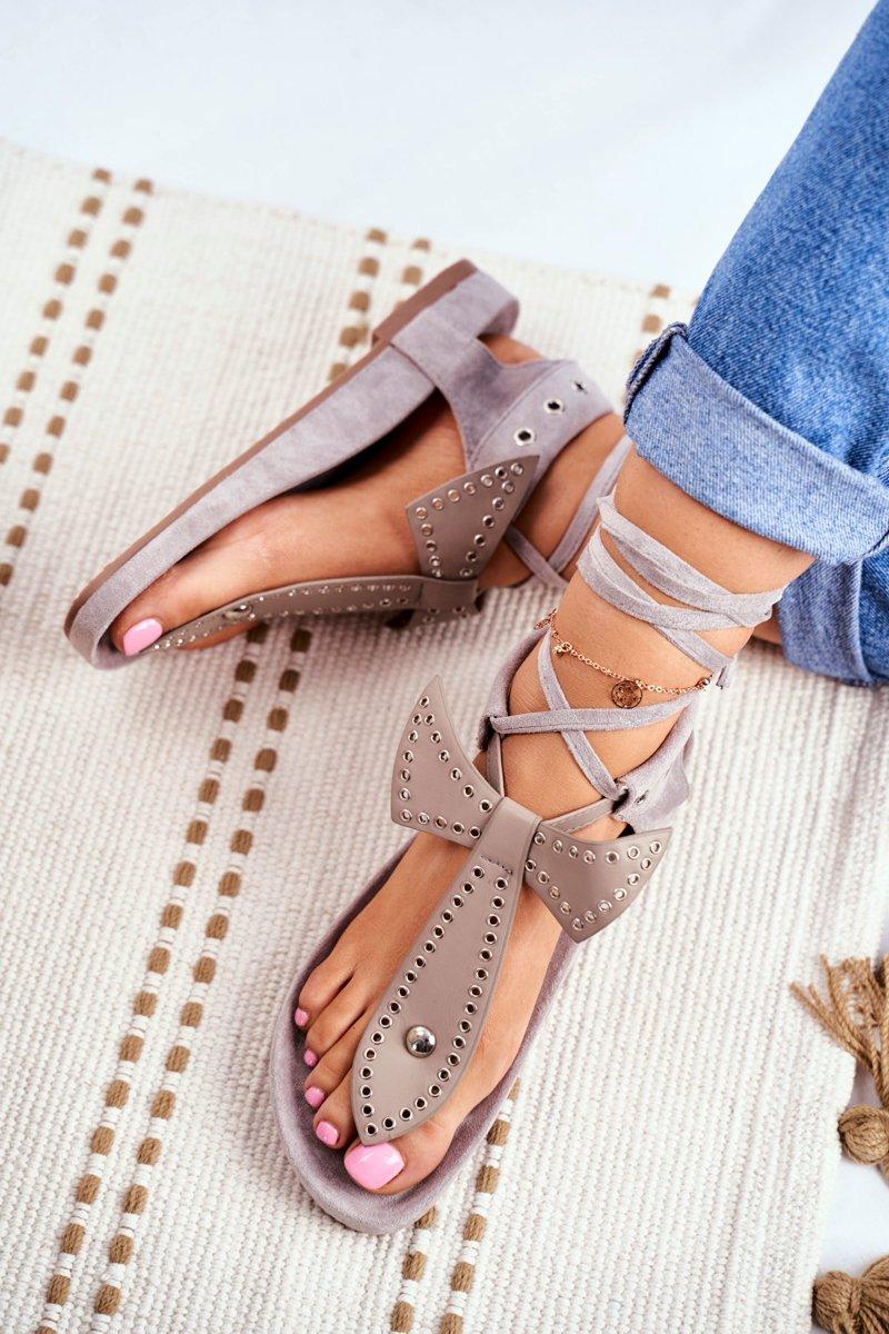 Lu Boo Women's Gray Sandals Mara