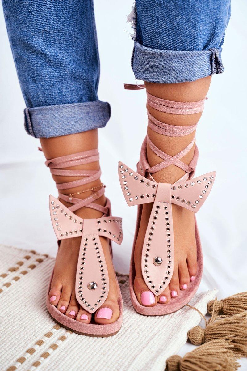 Lu Boo Women's Pink Sandals Mara