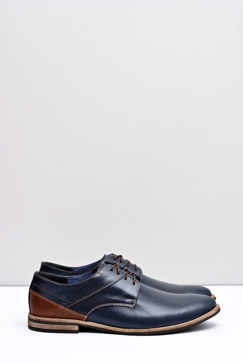 Men's Brogues Bednarek Elegant Leather Navy Blue Marcelo