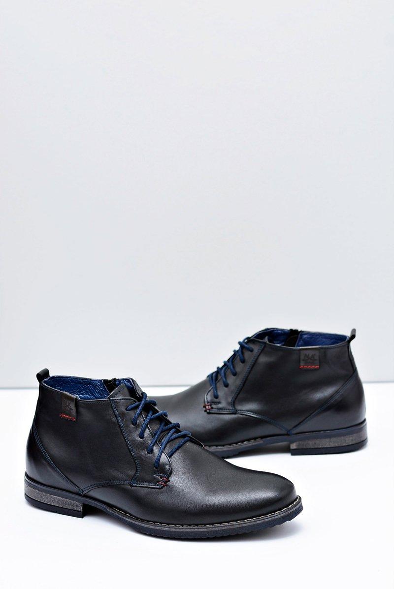 Men's Leather Black Boots Nikopol 672