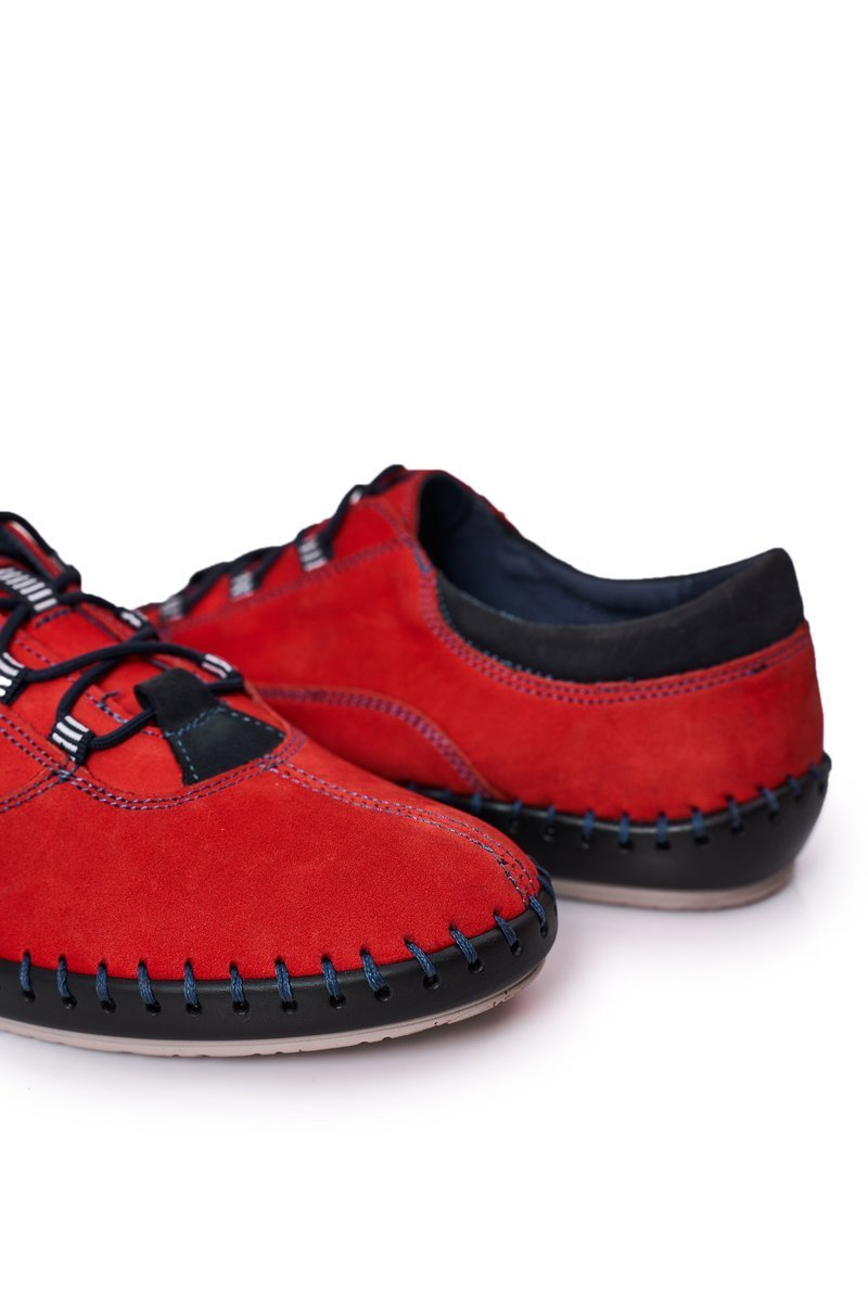 Men's Leather Shoes BEDNAREK Red