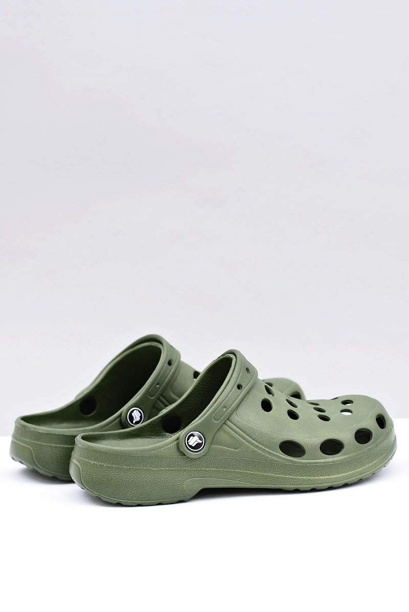 Men's Slides Sandals Crocs Green