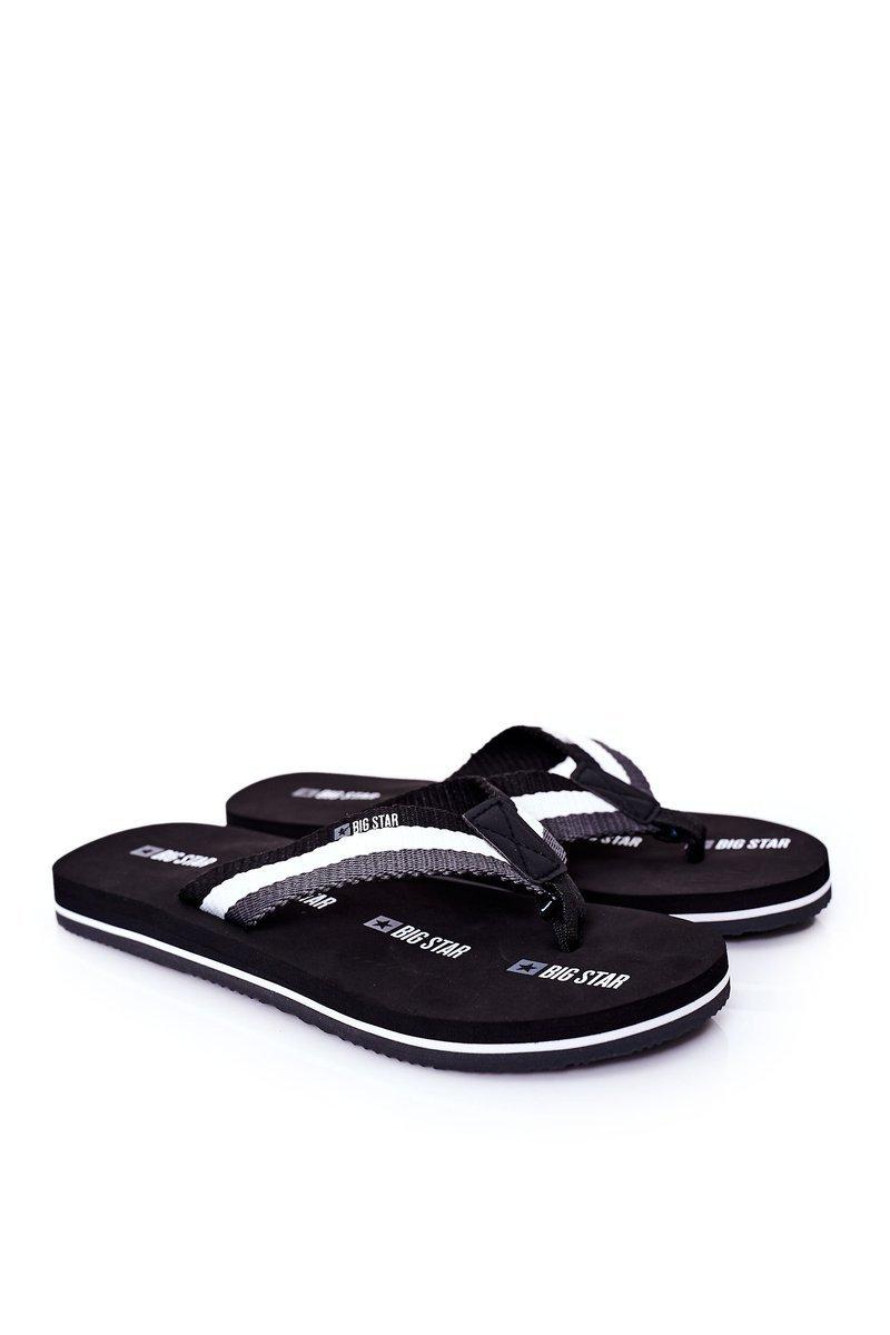 Men's Slippers Flip-Fops Big Star HH174828 Black