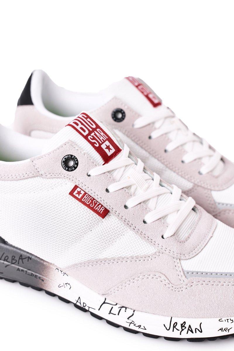 Men's Sport Shoes Memory Foam Big Star FF174208 White-Grey