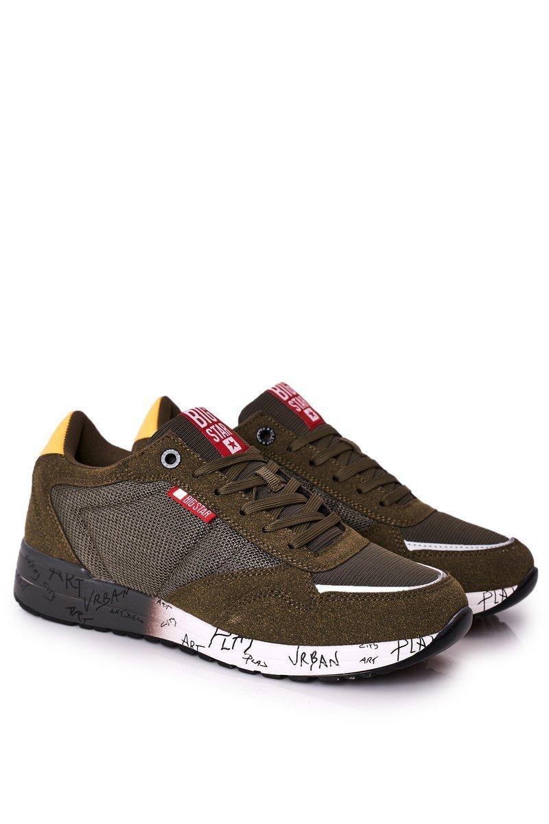 Men's Sport Shoes Memory Foam Big Star FF174209 Green