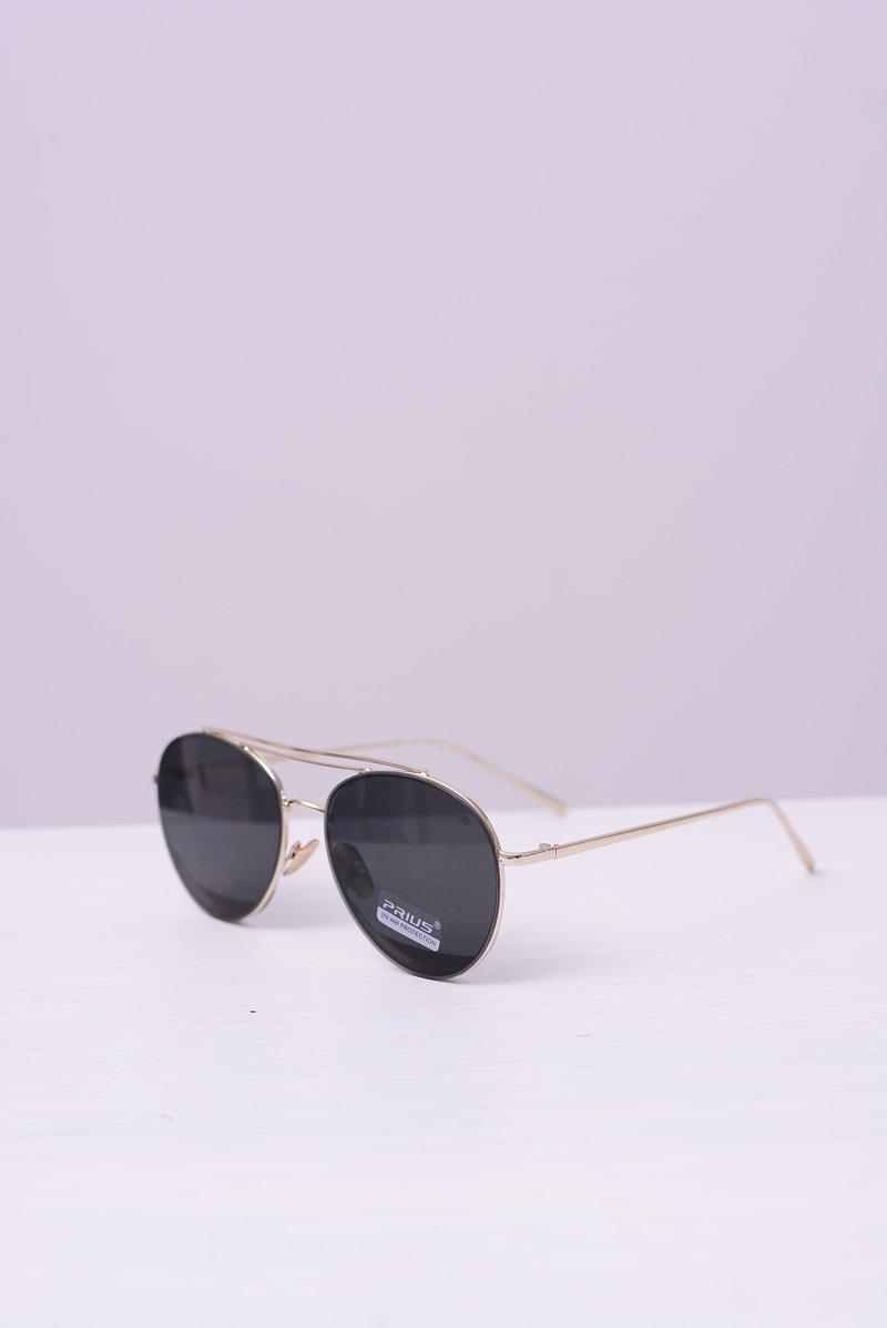 Okulary Prius PRE-42 Złote Czarne