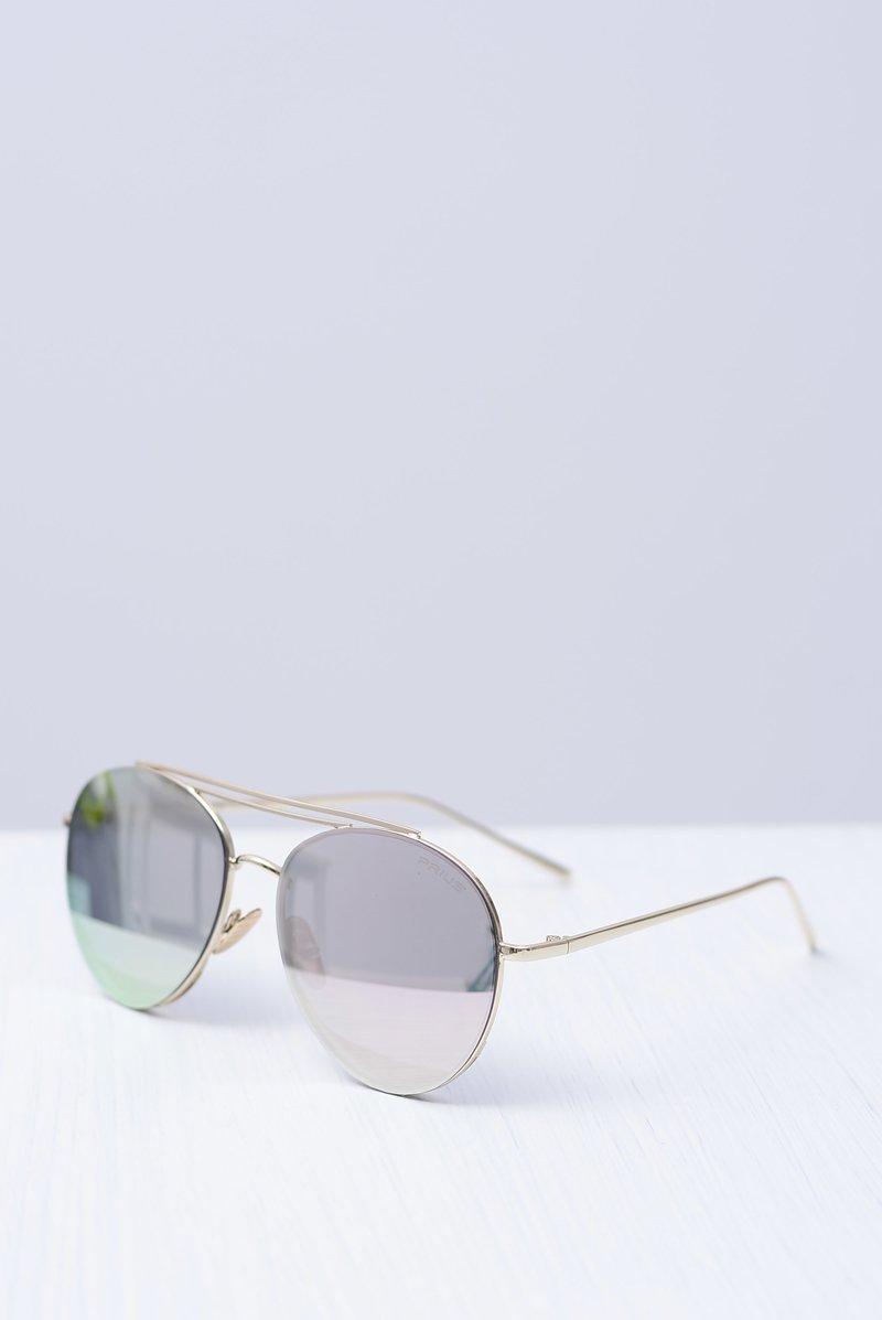 Okulary Prius PRE-42 Złote Lustrzane