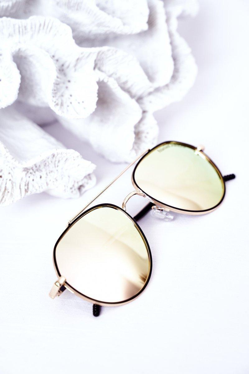 Polarized Sunglasses Aviator Pink-Yellow